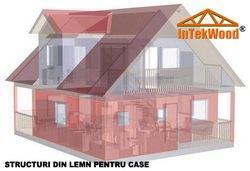 Modele case din lemn, ossature bois