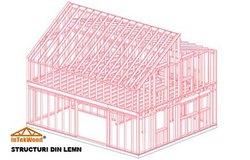 Modele case cu structuri din lemn