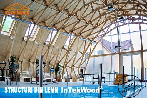 Constructii din lemn - acoperisuri pentru sali