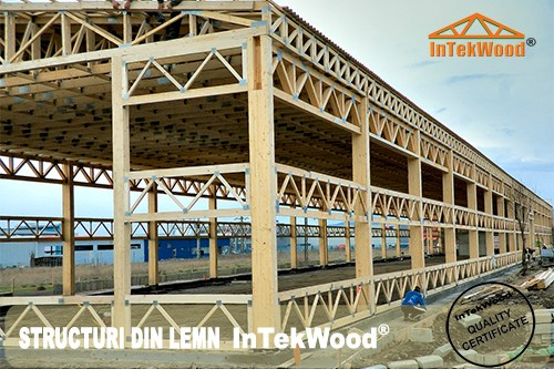 Hale industriale din lemn cu structuri InTekWood