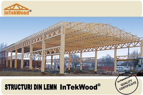 Hale industriale din lemn cu deschideri si inaltimi mari