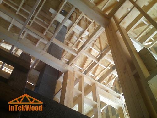 Mansarde din lemn tip cabana, mansarde cu 2 nivele, structuri din lemn InTekWood