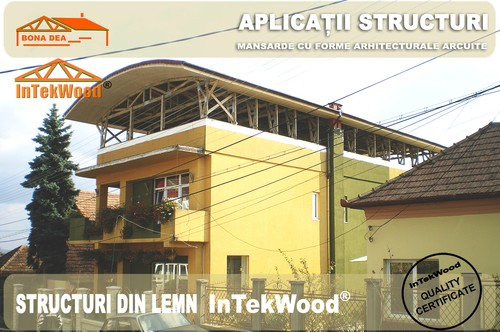 Mansarde din lemn pentru case cu arhitecturi moderne