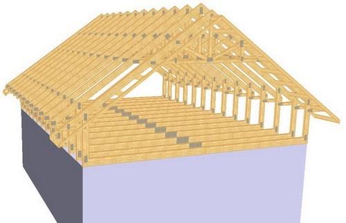 Mansarde case din lemn - cu atic ridicat