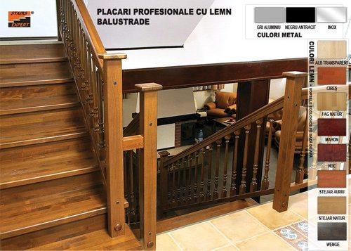 Placare scari cu lemn
