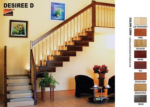 Scari interioare din lemn - gama DESIREE D